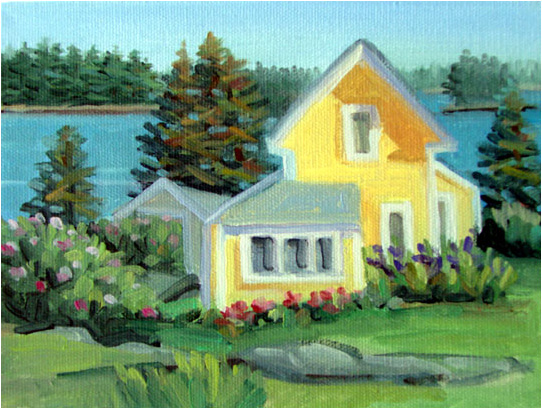 Sarah Greenier, Maine painter of coastal scenes ...